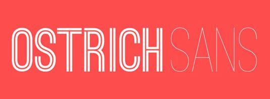 Ostrich Sans Font
