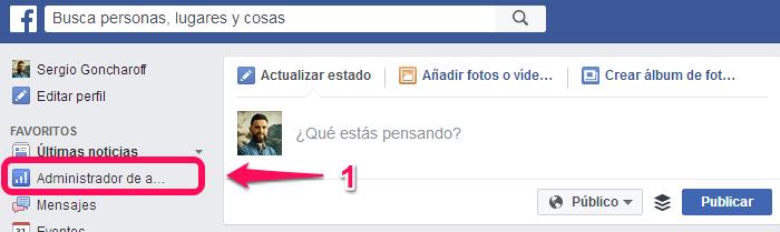 Remarketing en facebook paso 1