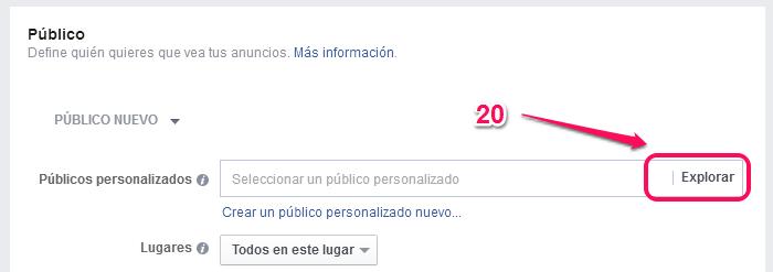 Remarketing en facebook paso 12