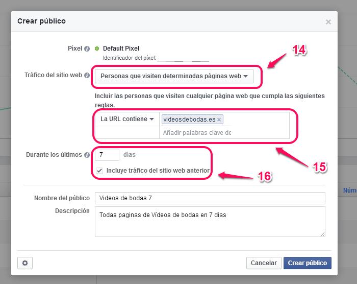 Remarketing en facebook paso 9