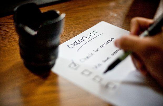 checklist para fotografo de boda