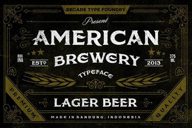 Descargar letras chulas gratis American Brewery tipografia gratis