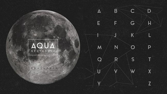 Descargar letras chulas gratis Aqua tipografia gratis