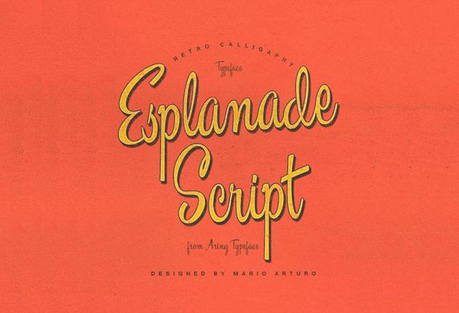 Descargar letras chulas gratis Esplanade Script tipografia gratis