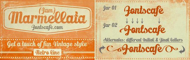 Descargar fuentes gratis Marmellata tipografia gratis