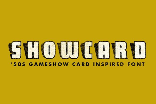 Descargar fuentes gratis Sho Card Caps tipografia gratis