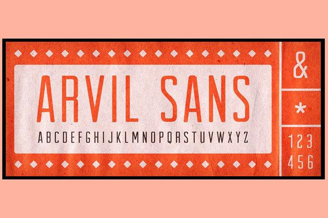 Descargar letras chulas gratis Arvil tipografia gratis