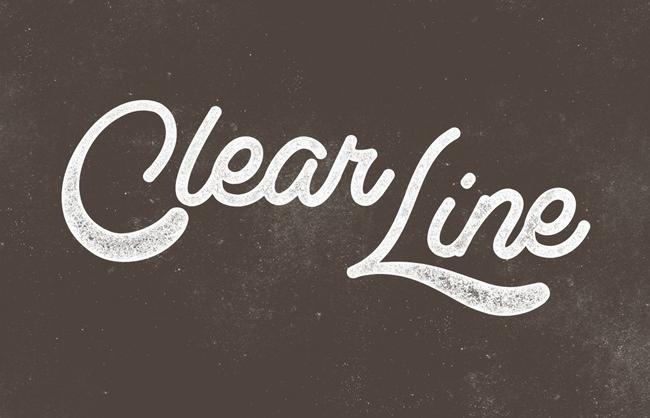 Descargar letras chulas gratis Clearline tipografia gratis