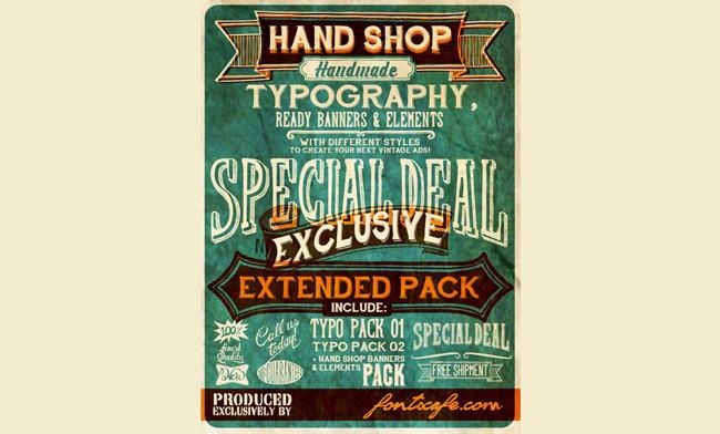 Descargar letras chulas gratis Hand Shop typography tipografia gratis